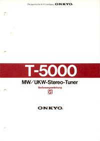 User Manual with schematics Onkyo T-5000