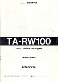 Manuale di servizio Onkyo TA-RW100