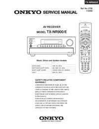 Instrukcja serwisowa Onkyo TX-NR900/E