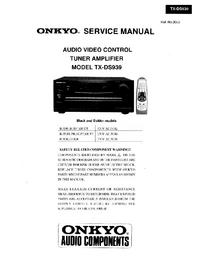 Manual de servicio Onkyo TX-DS939