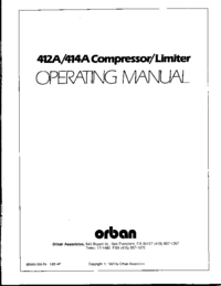 Service and User Manual Orban 414A