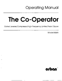 Service and User Manual Orban 464A