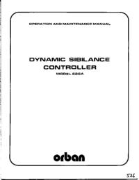 Serviço e Manual do Usuário Orban 526A
