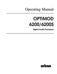 Servicio y Manual del usuario Orban 6200S