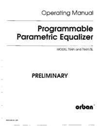 Instrukcja obsługi Orban 764A