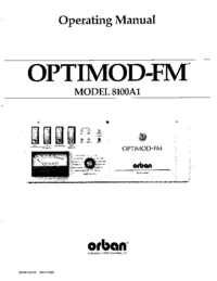 Serviço e Manual do Usuário Orban OPTIMOD-FM 8100A1