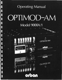 Service and User Manual Orban OPTIMOD-AM 9000A/1
