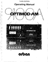 Service and User Manual Orban OPTIMOD-AM 9100A