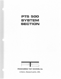 Service and User Manual PTS PTS 500