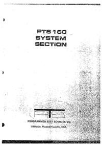 Servizio e manuale utente PTS PTS 160