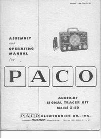Bedienungsanleitung Paco Z-80
