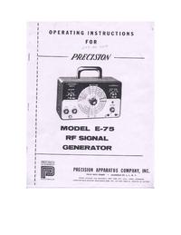Manual del usuario, Diagrama cirquit Paco E-75