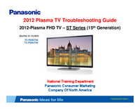 Service Manual Panasonic TC-P50ST50