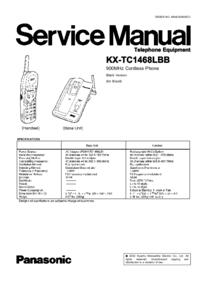 Service Manual Panasonic KX-TC1468LBB