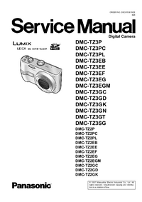 Service Manual Panasonic DMC-TZ3EG