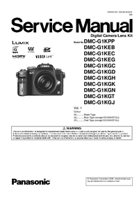 Service Manual Panasonic DMC-G1KGN