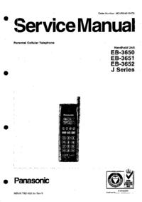 manuel de réparation Panasonic EB-3652