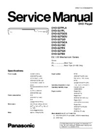 Service Manual Panasonic DVD-S27GCA