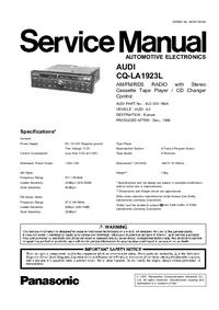 Service Manual Panasonic AUDI Concert CQ-LA1923L