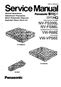 Service Manual Panasonic VW-R88E