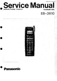 manuel de réparation Panasonic EB-3610