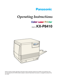 User Manual Panasonic KX-P8410