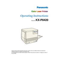 Manual do Usuário Panasonic KX-P8420