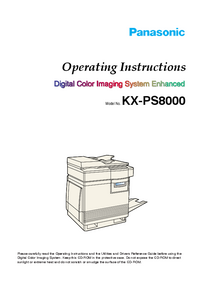 Manual del usuario Panasonic KX-PS8000