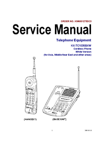 Service Manual Panasonic KX-TC1035BXW
