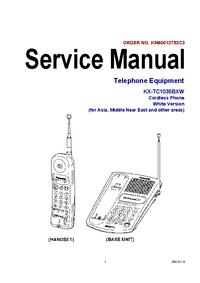 manuel de réparation Panasonic KX-TC1035BXW