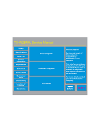 Instrukcja serwisowa Panasonic TX-W28R4L