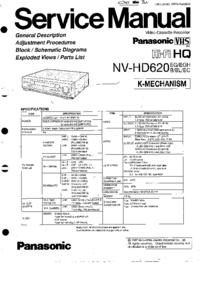 Instrukcja serwisowa Panasonic NV-HD620