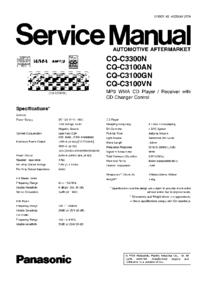 Руководство по техническому обслуживанию Panasonic CQ-C3100GN