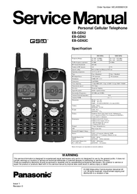 Manual de servicio Panasonic EB-GD52