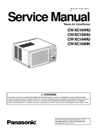 Service Manual Panasonic CW-XC104HU