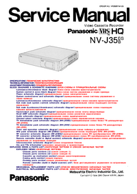 Manual de servicio Panasonic NV-J35