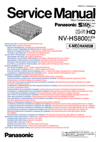 Manual de servicio Panasonic NV-HS800A