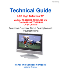 Servicehandboek Panasonic TC-26LX20