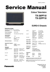 Servicehandboek Panasonic TX-36PF10