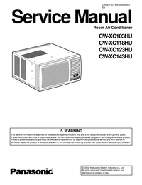 Service Manual Panasonic CW-XC123HU