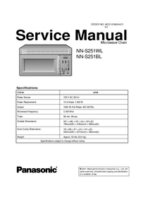 Manual de servicio Panasonic NN-S251BL