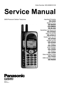 Manual de servicio Panasonic EB-BL600