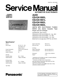 Руководство по техническому обслуживанию Panasonic CQ-EA1062L