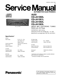 Manual de servicio Panasonic CQ-JA1062L