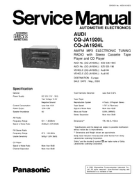 Service Manual Panasonic CQ-JA1924L