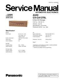 Manual de serviço Panasonic CX-CA1270L