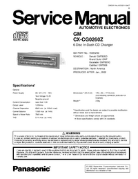 Manual de servicio Panasonic CX-CG0260Z