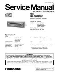 Servicehandboek Panasonic CX-CG0260Z