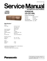 Руководство по техническому обслуживанию Panasonic CX-CX1190L