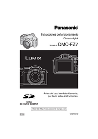User Manual Panasonic DMC-FZ7